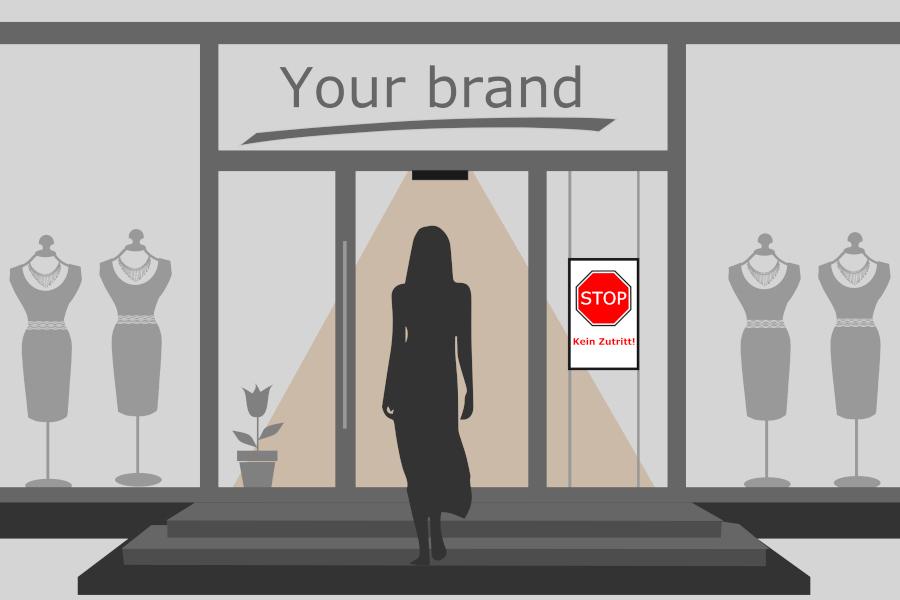Supermarkampel / Zutrittskontrolle im Einzelhandel